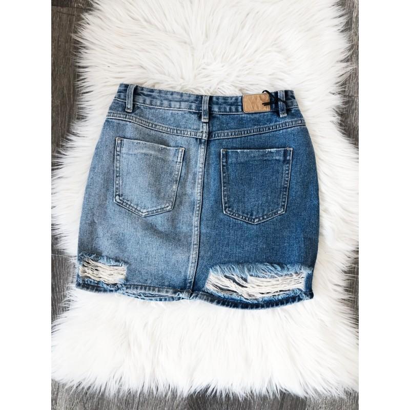 d54ec12beb19 Ripped džínová sukně - krátká - Yes